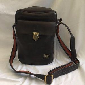 Vintage Kodak Camera Caddy Leather Crossbody Bag